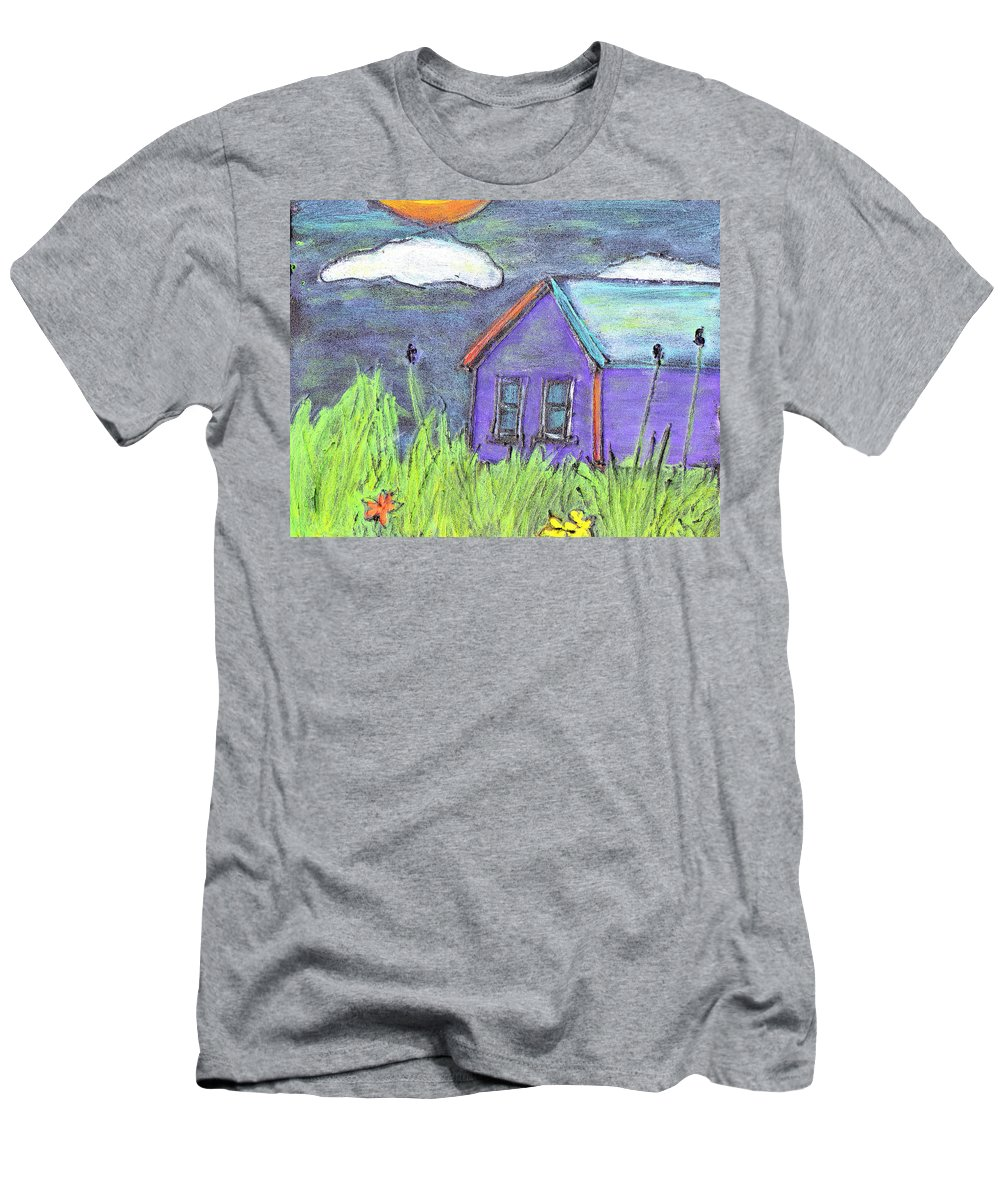 Abandoned Men's T-Shirt (Athletic Fit) featuring the painting Left Behind by Wayne Potrafka