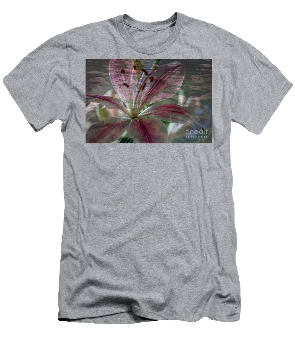 Lily Men's T-Shirt (Athletic Fit) featuring the photograph Lily Blossom by Sherman Perry