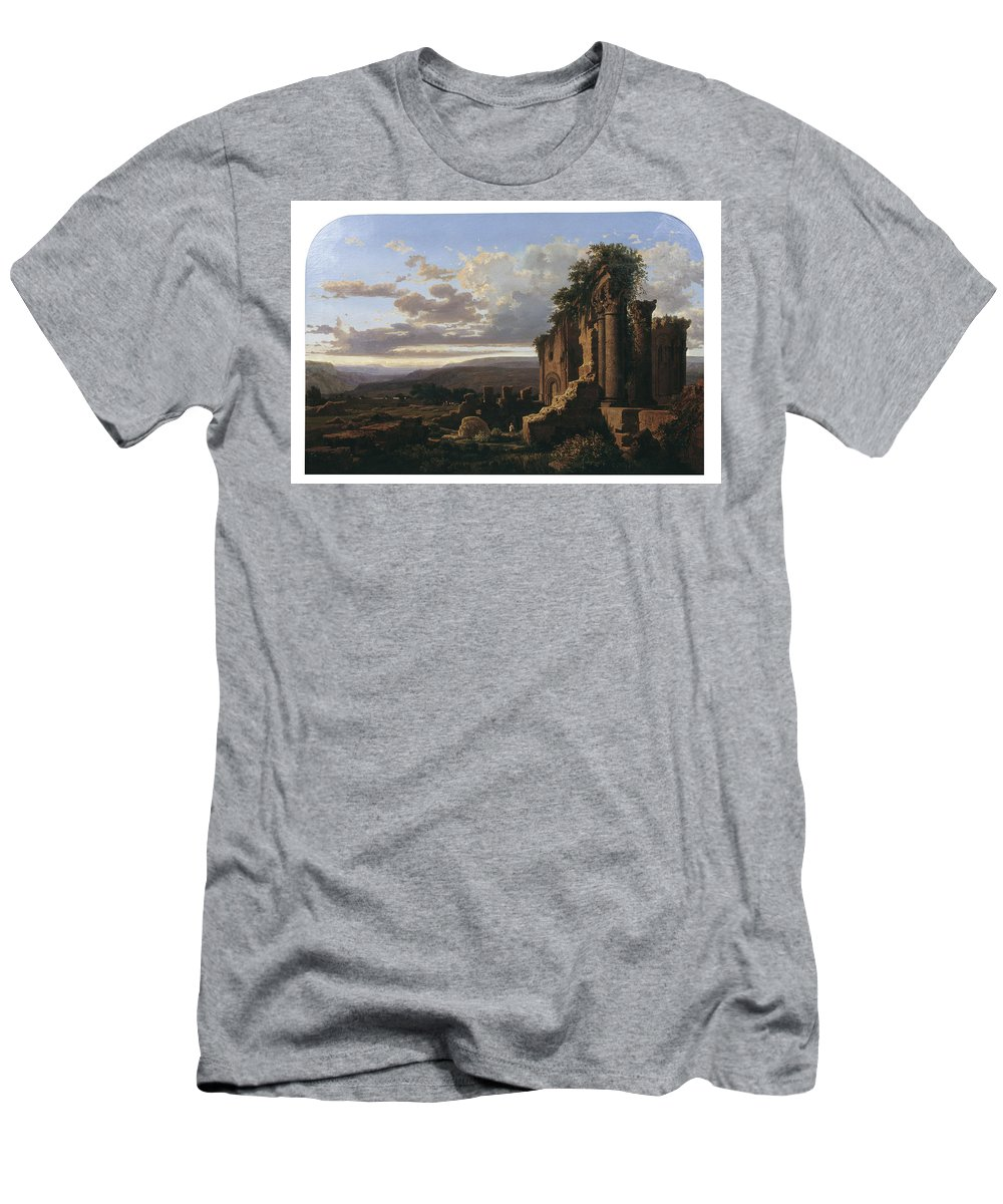 Llu�s Rigalt Men's T-Shirt (Athletic Fit) featuring the painting Lluis Rigalt by MotionAge Designs