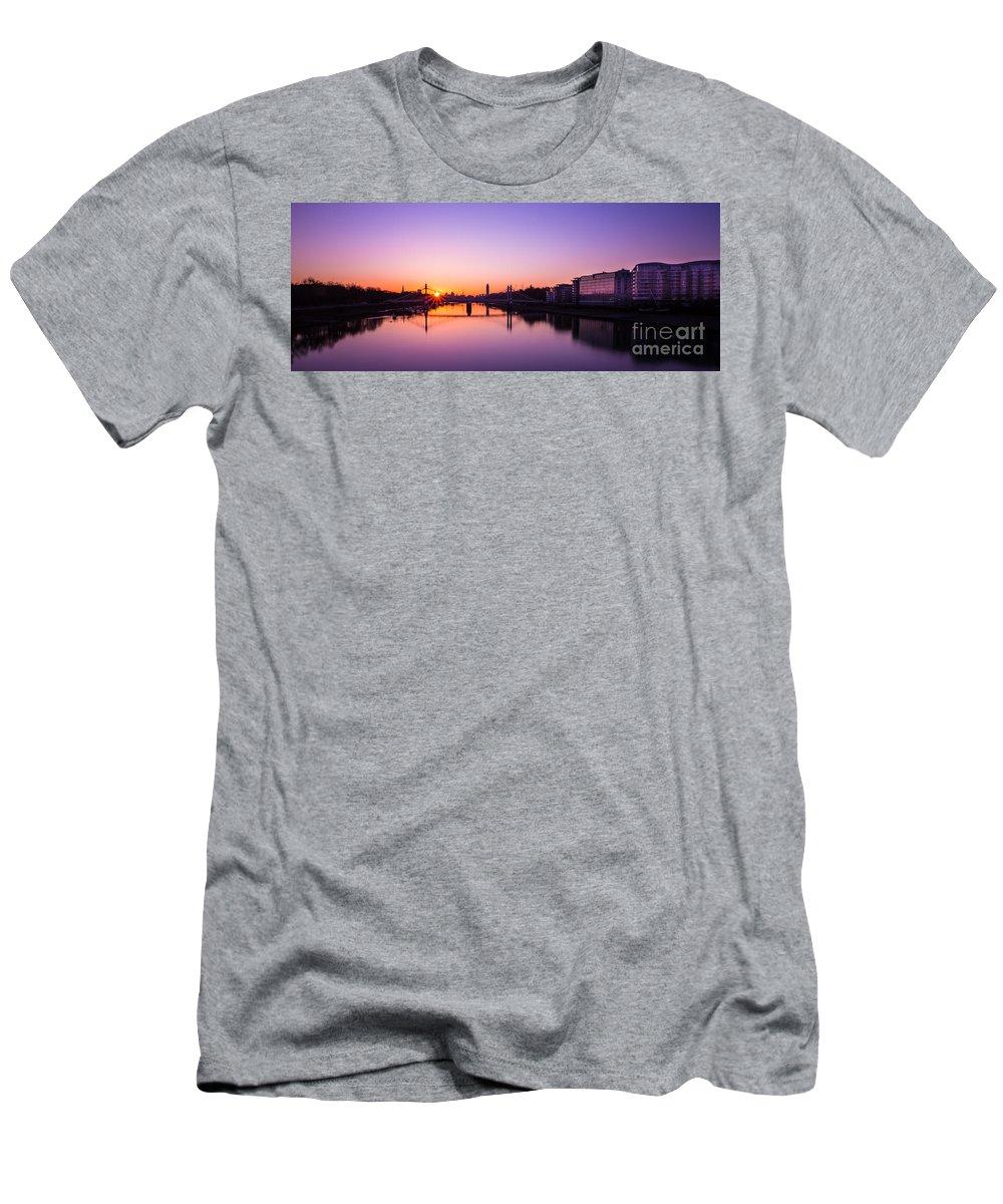 London Men's T-Shirt (Athletic Fit) featuring the photograph London Sunrise by Mariusz Czajkowski
