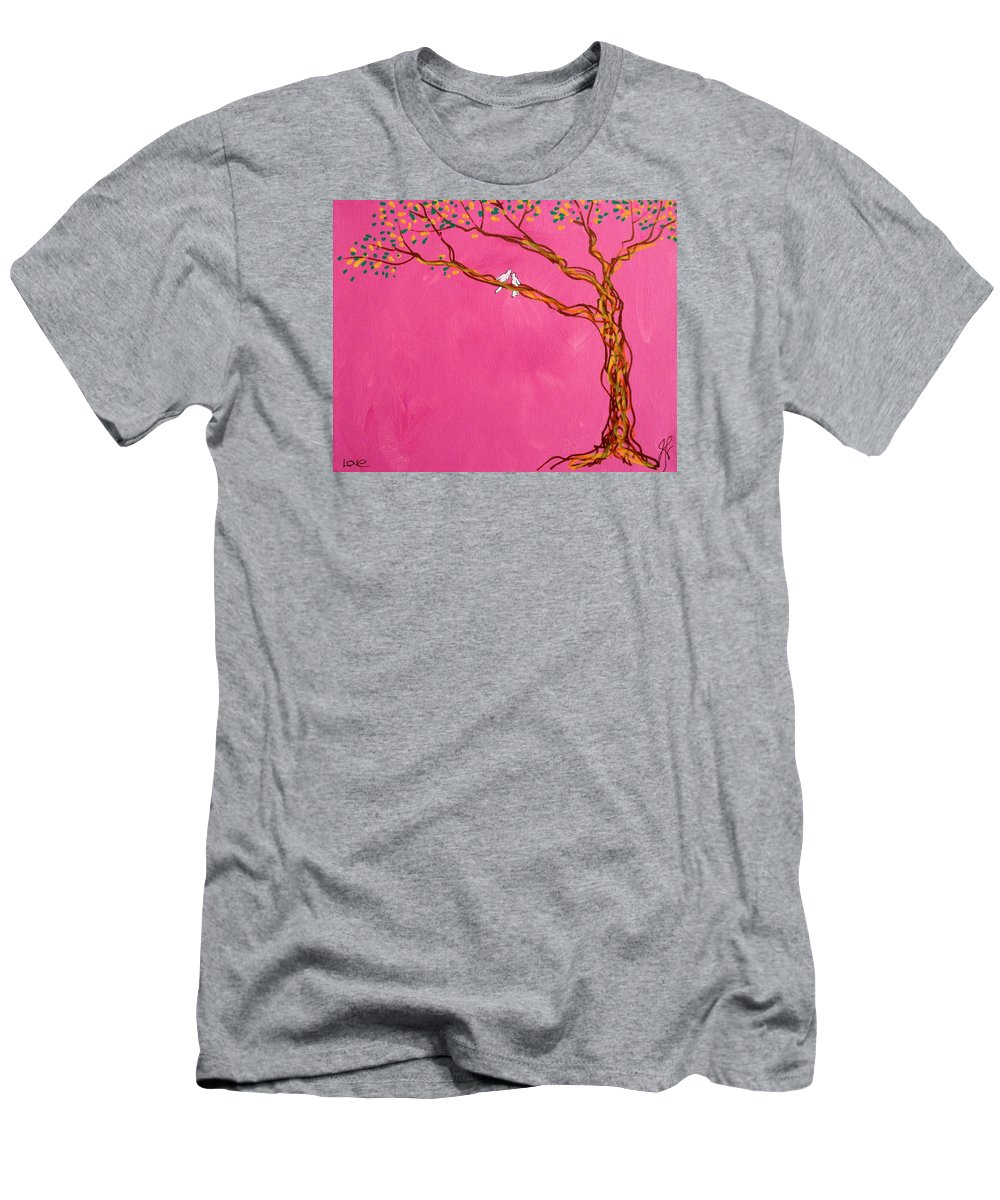 Tree Men's T-Shirt (Athletic Fit) featuring the painting Love by Jim Harris