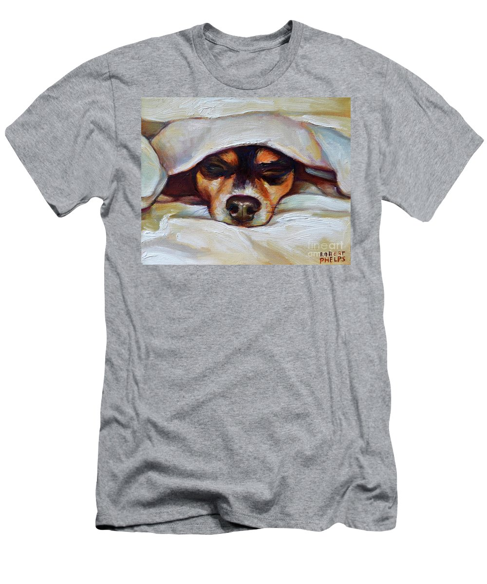 Chihuahua Men's T-Shirt (Athletic Fit) featuring the painting Lulu by Robert Phelps