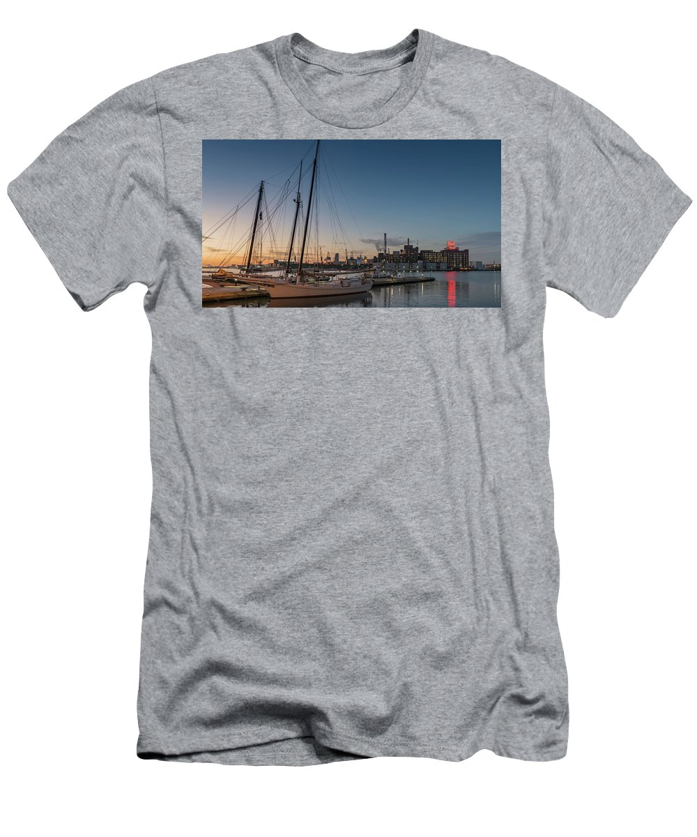 2017 Men's T-Shirt (Athletic Fit) featuring the photograph Magic Sky In Baltimore by Jim Archer