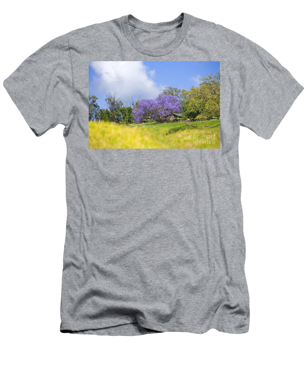 Afternoon Men's T-Shirt (Athletic Fit) featuring the photograph Maui Upcountry by Ron Dahlquist - Printscapes