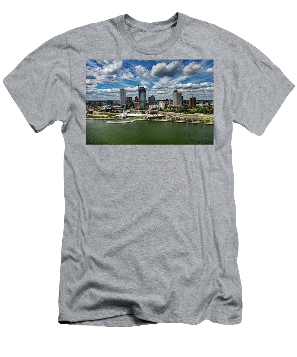 Milwaukee Men's T-Shirt (Athletic Fit) featuring the photograph Milwaukee Wisconsin by Mountain Dreams
