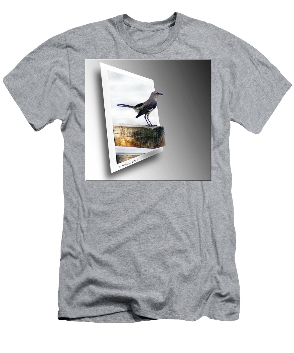 2d Men's T-Shirt (Athletic Fit) featuring the photograph Mockingbird by Brian Wallace