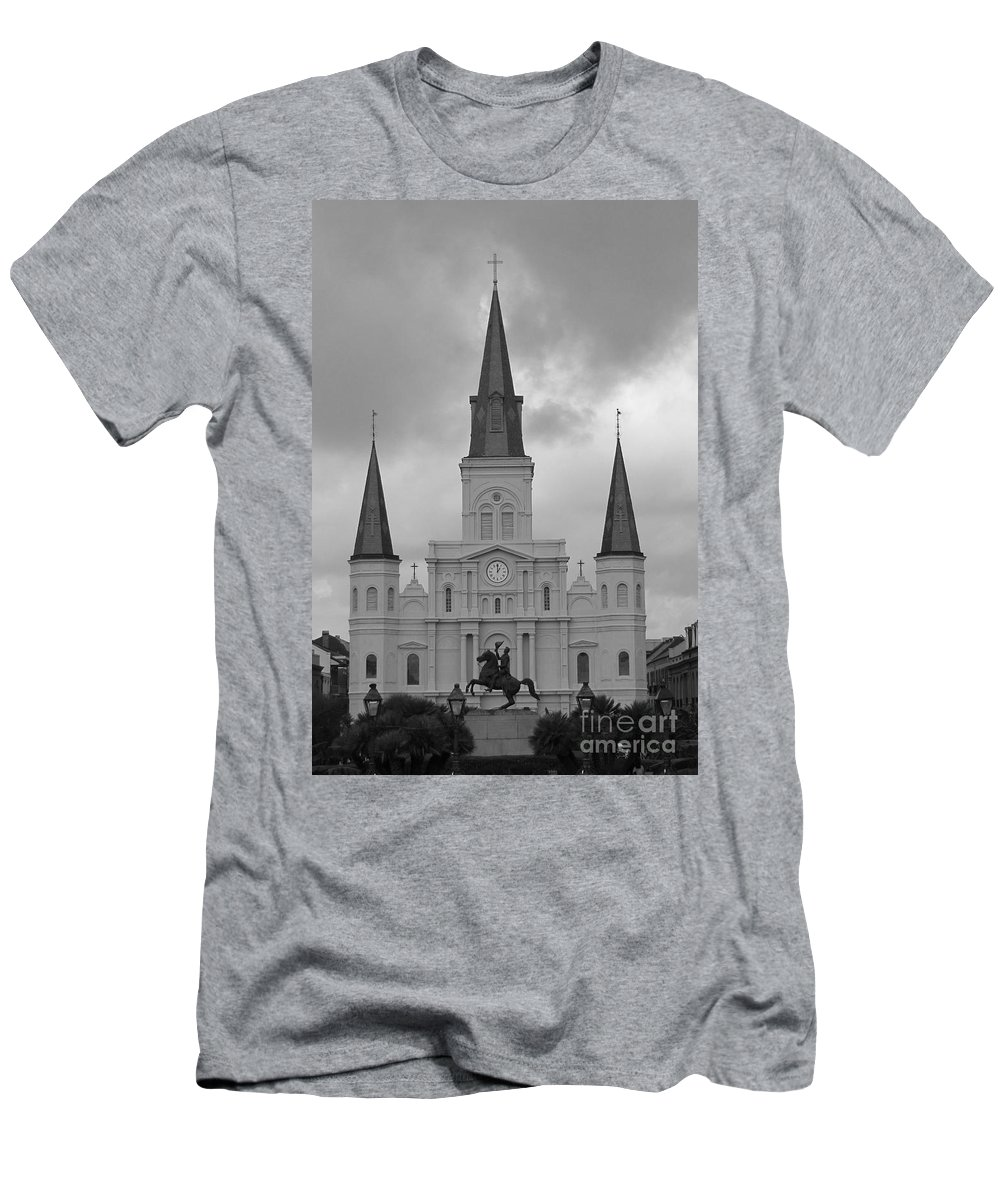French Quarter Men's T-Shirt (Athletic Fit) featuring the photograph Model Church by Michelle Powell