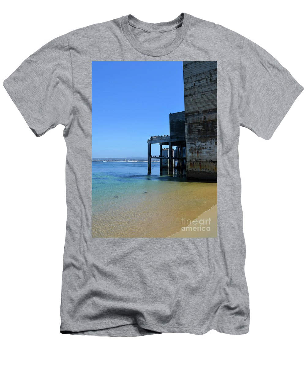 Monterey Men's T-Shirt (Athletic Fit) featuring the photograph Monterey Bay by Brian Stauffer