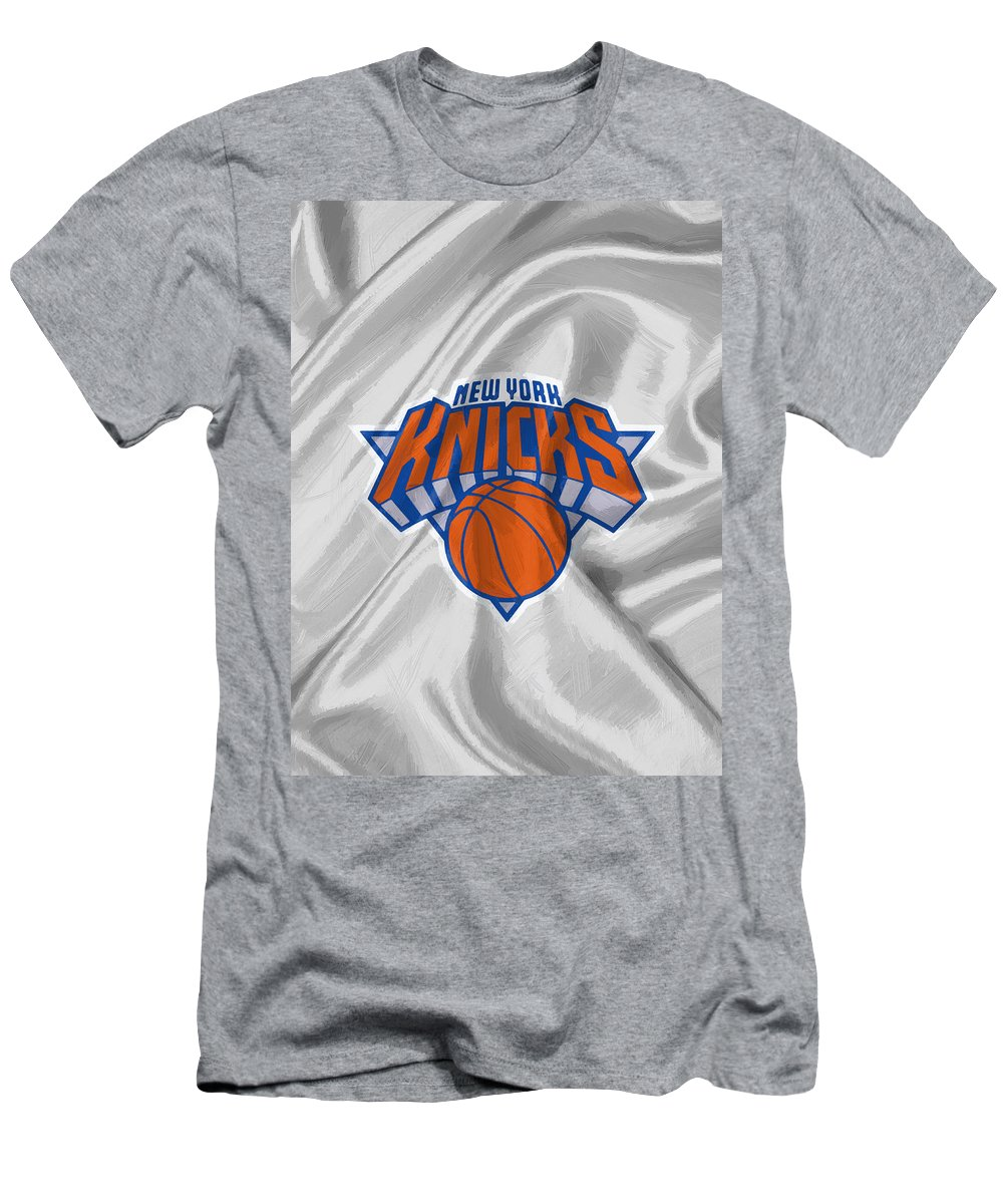 New York Knicks Men's T-Shirt (Athletic Fit) featuring the digital art New York Knicks by Afterdarkness