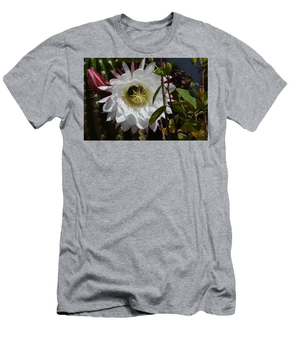 Flowers Men's T-Shirt (Athletic Fit) featuring the photograph Night Bloomers by Diane Barone