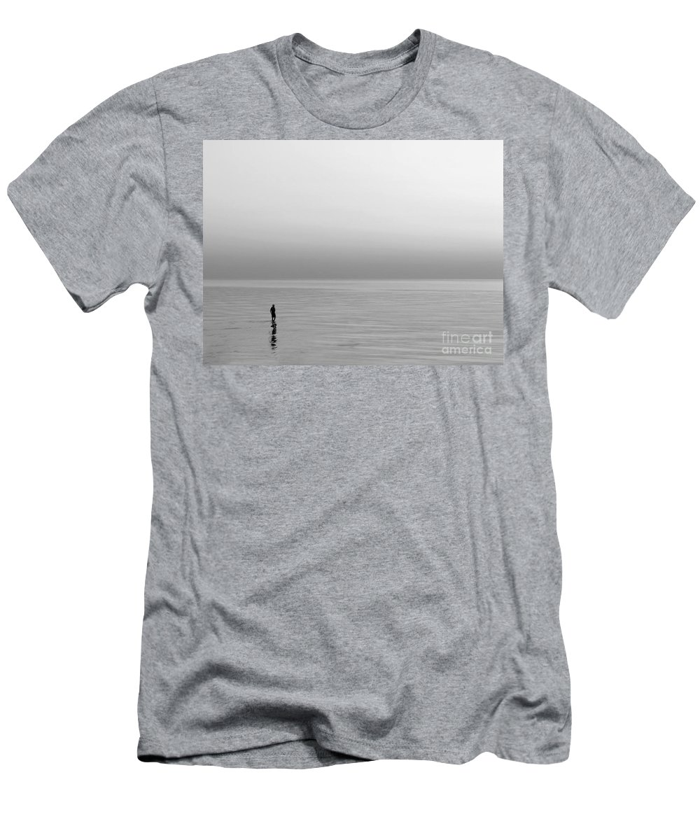 Lake Men's T-Shirt (Athletic Fit) featuring the photograph One Man by Dana DiPasquale