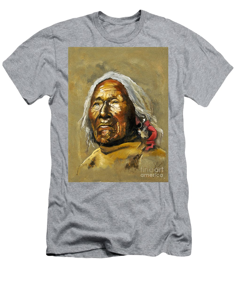 Southwest Art Men's T-Shirt (Athletic Fit) featuring the painting Painted Sands Of Time by J W Baker