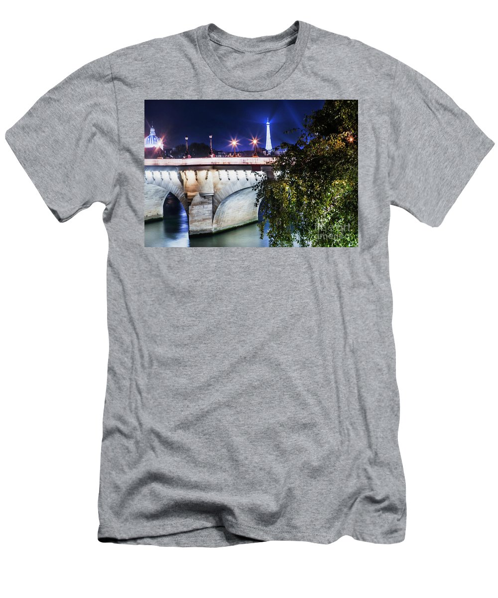 Paris Men's T-Shirt (Athletic Fit) featuring the photograph Paris At Night 23 by Alex Art and Photo