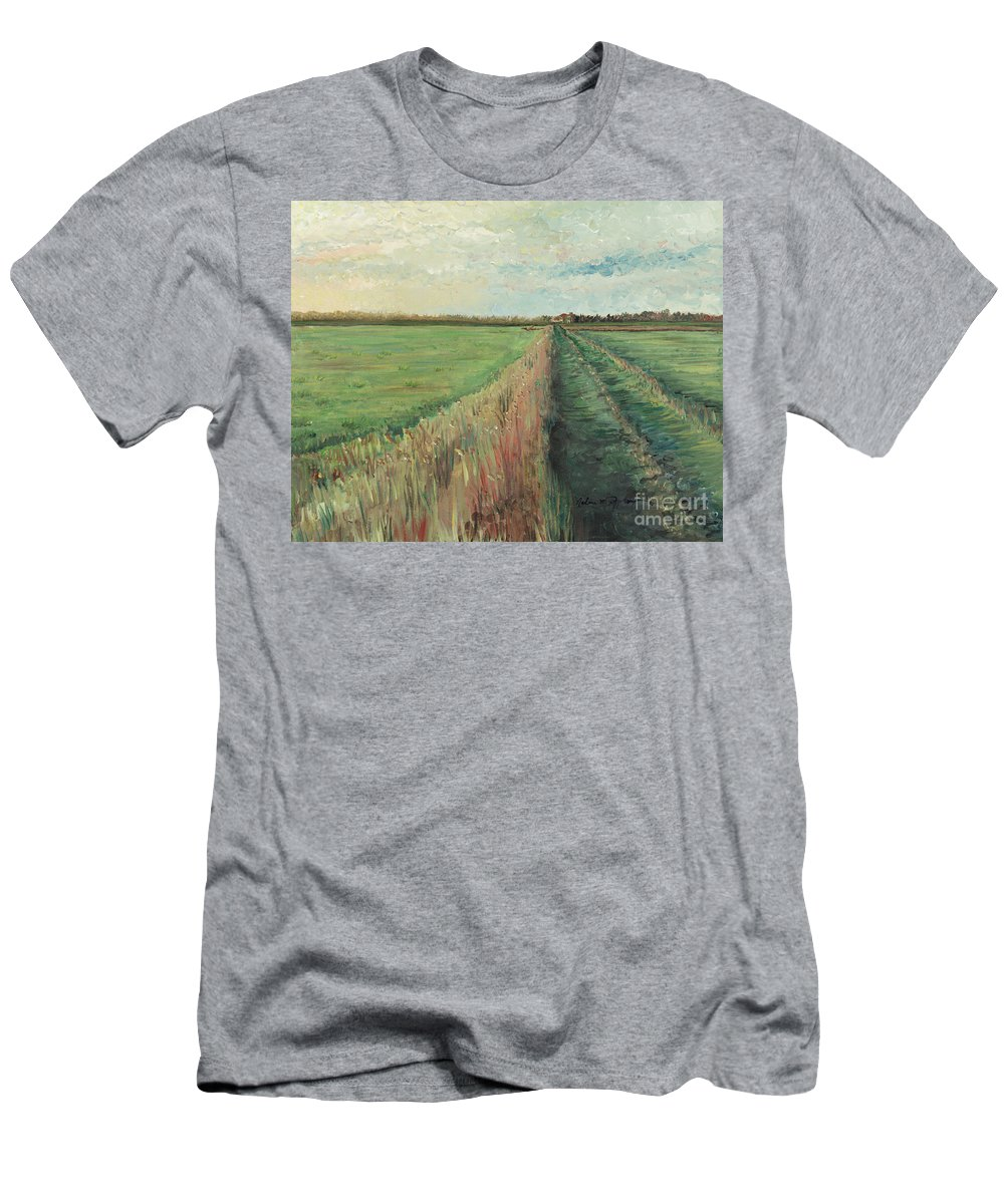 Provence Men's T-Shirt (Athletic Fit) featuring the painting Provence Villa by Nadine Rippelmeyer