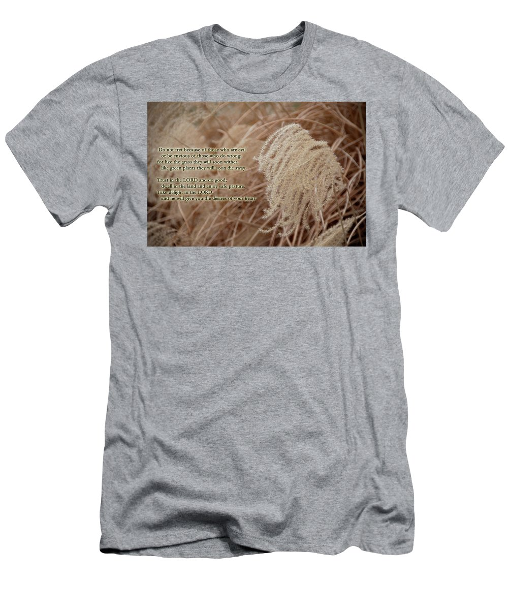 Psalm Men's T-Shirt (Athletic Fit) featuring the photograph Psalm 37 by David Arment