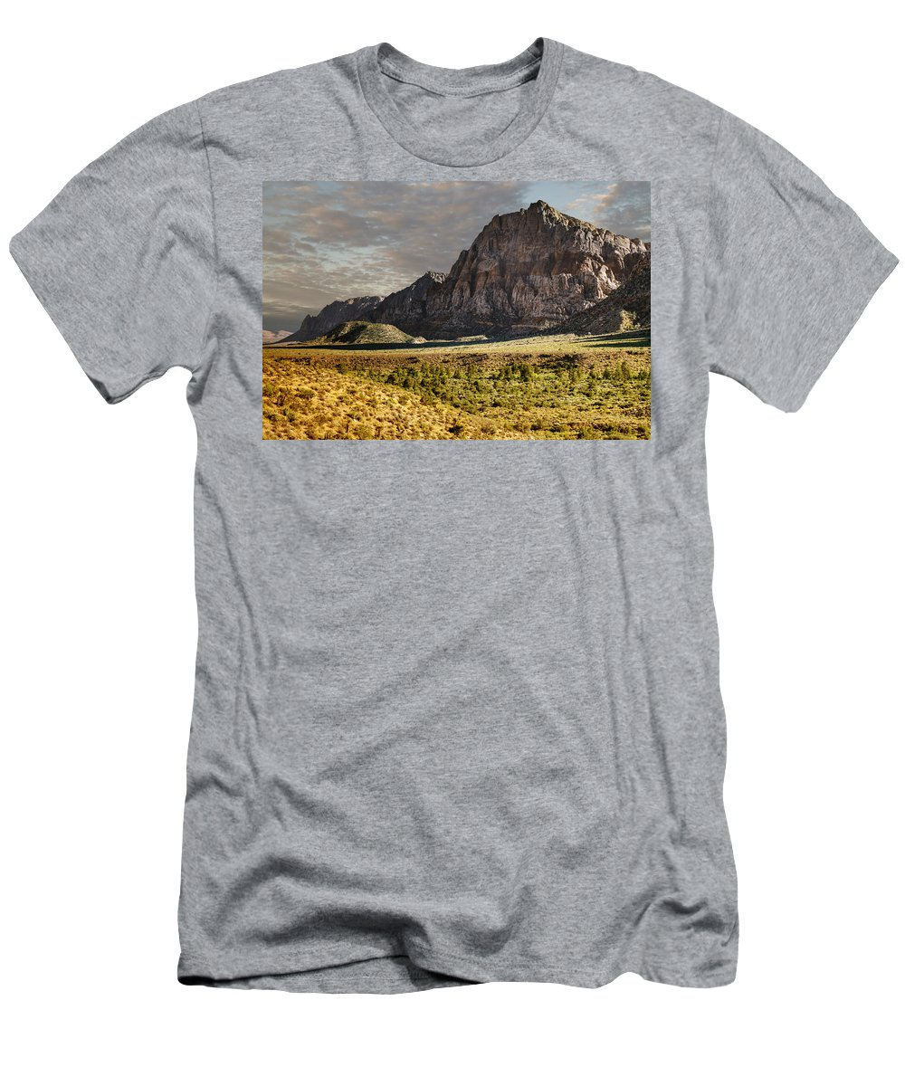 Red Men's T-Shirt (Athletic Fit) featuring the photograph Red Rock Canyon by Ricky Barnard