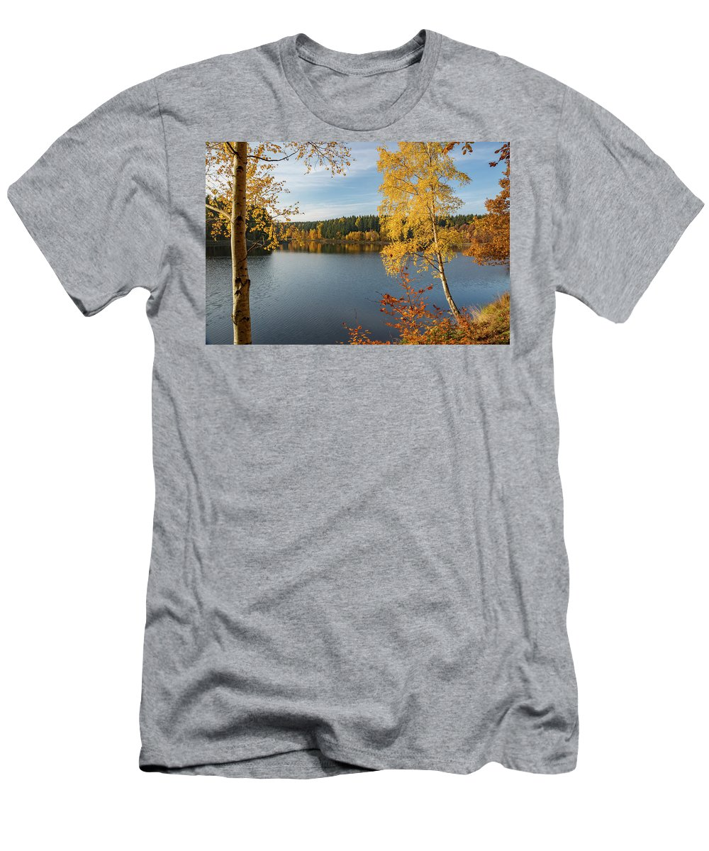 Nature Men's T-Shirt (Athletic Fit) featuring the photograph Saegemuellerteich, Harz by Andreas Levi