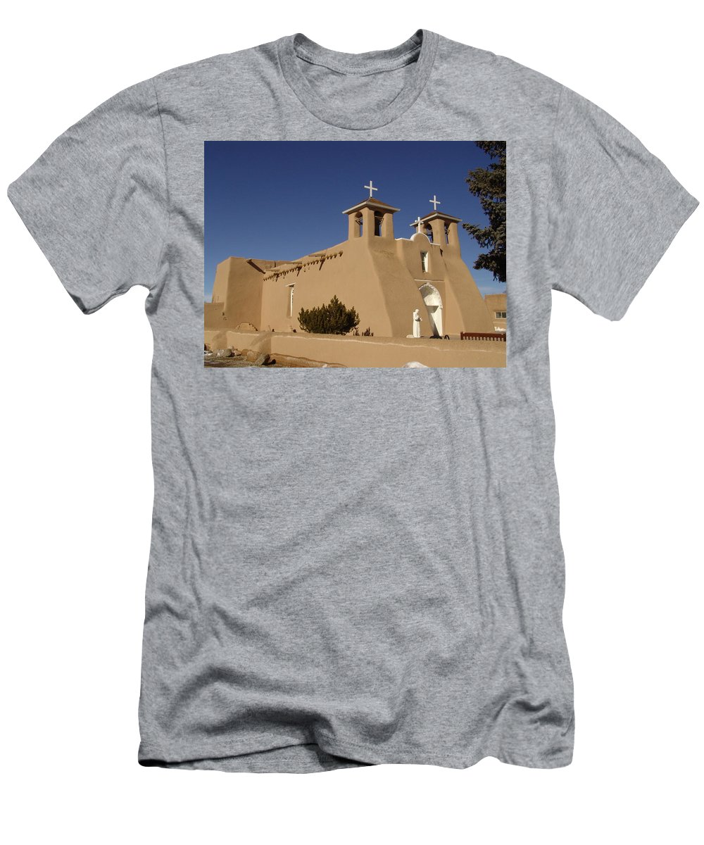 Church Men's T-Shirt (Athletic Fit) featuring the photograph San Francisco De Asis Mission Church by Carol Milisen