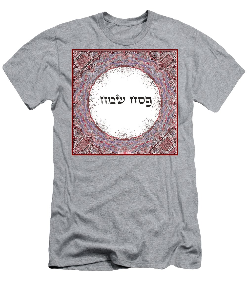 Passover Men's T-Shirt (Athletic Fit) featuring the digital art Shabat And Holidays- Passover by Sandrine Kespi