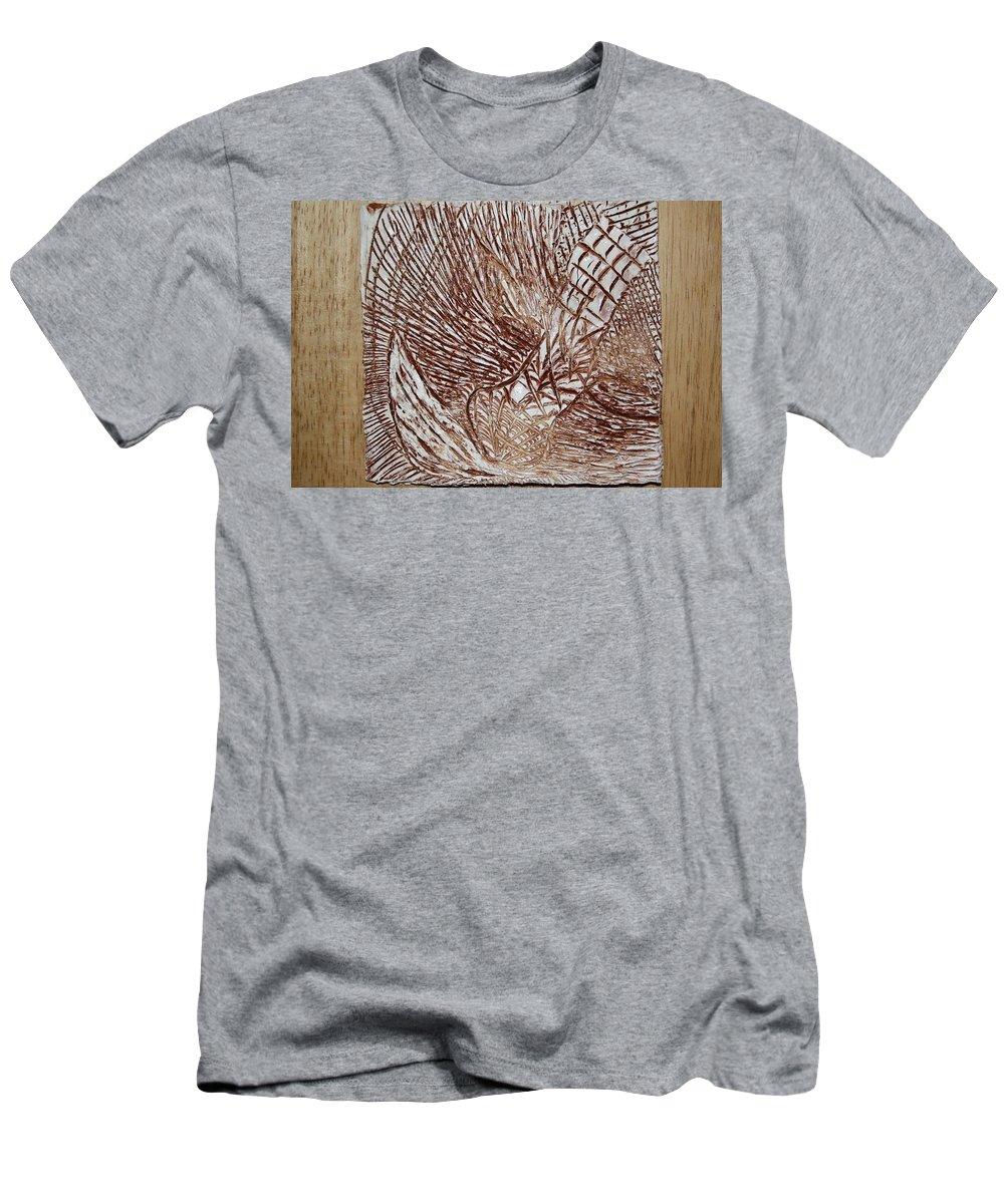 Jesus Men's T-Shirt (Athletic Fit) featuring the ceramic art Solemn - Tile by Gloria Ssali