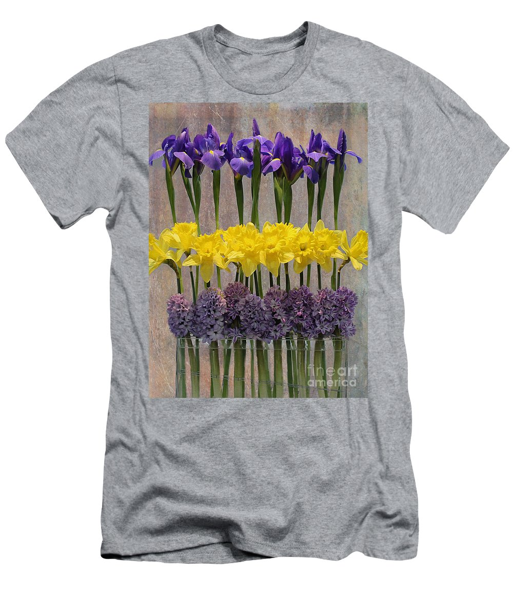 Purple Men's T-Shirt (Athletic Fit) featuring the photograph Spring Delights by Nina Silver