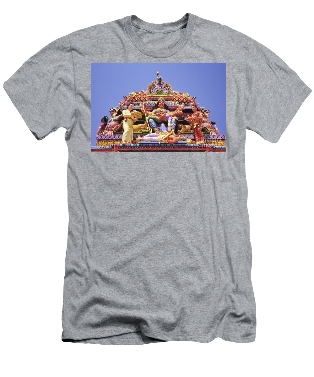 Adorn Men's T-Shirt (Athletic Fit) featuring the photograph Sri Krishnan Temple by Gloria and Richard Maschmeyer - Printscapes
