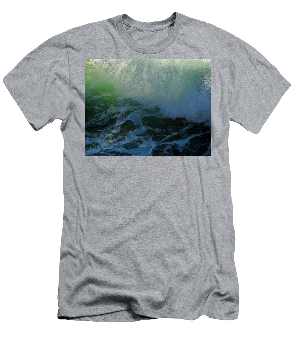 Cannon Beach Men's T-Shirt (Athletic Fit) featuring the photograph Sunlight And Surf by Robert Potts