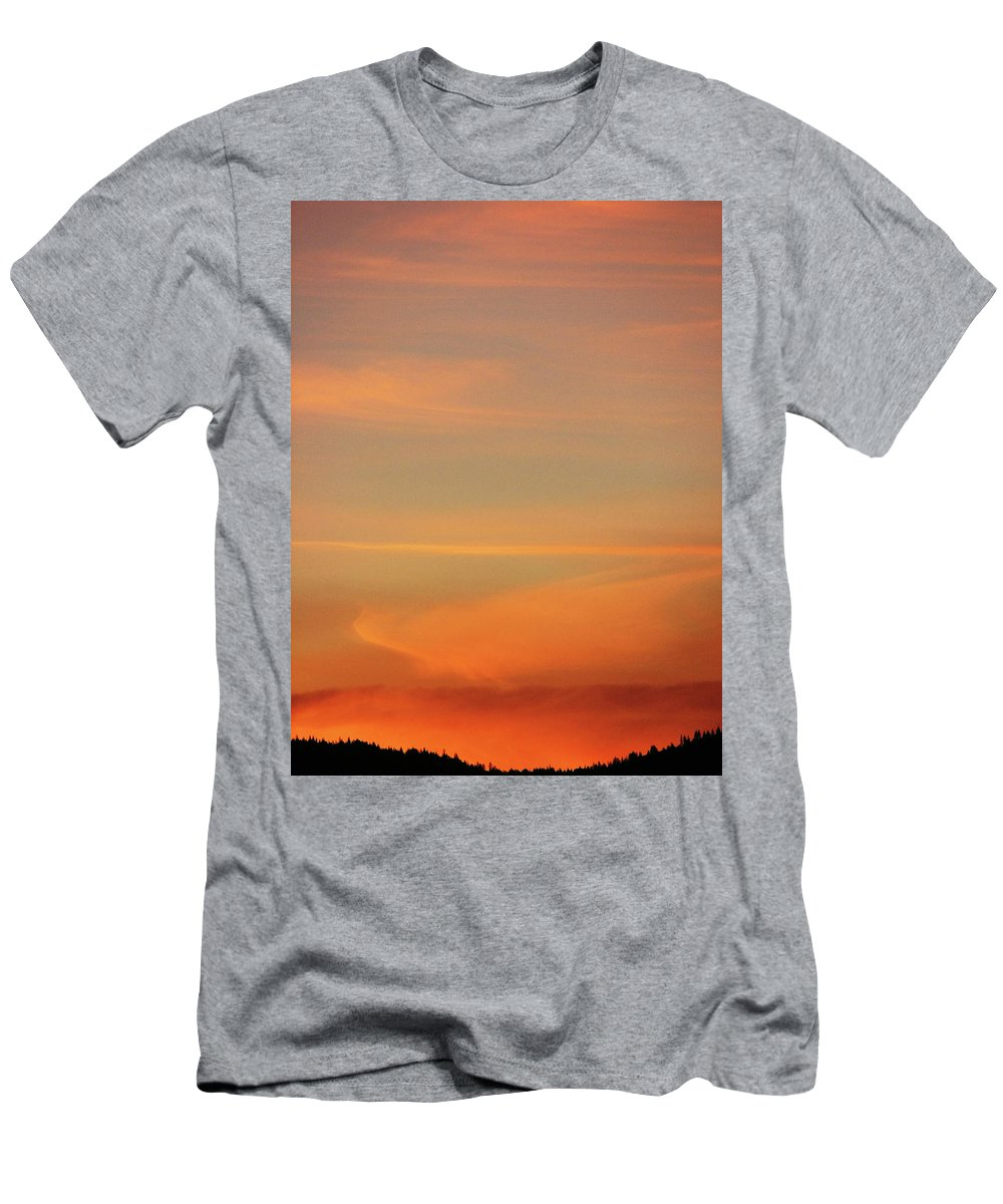 Blue Men's T-Shirt (Athletic Fit) featuring the photograph Sunset Off Of Kings Hwy by Teri Schuster