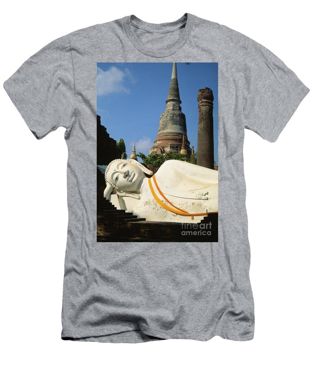 Ancient Men's T-Shirt (Athletic Fit) featuring the photograph Thailand, Ayathaya by Rita Ariyoshi - Printscapes