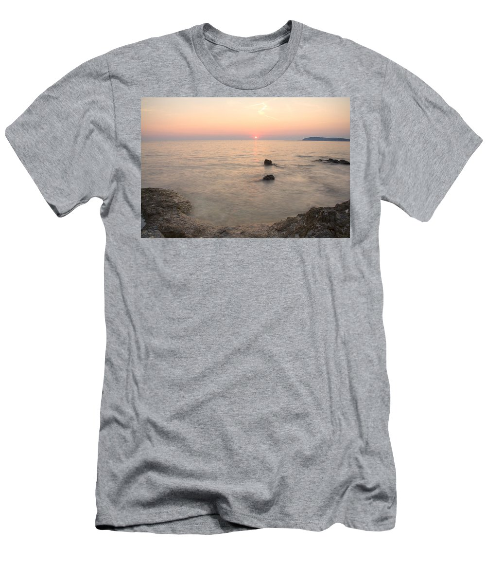 Sea Men's T-Shirt (Athletic Fit) featuring the photograph The Beautiful Istrian Coastline by Ian Middleton