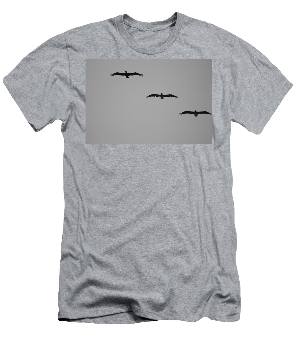 Black And White Men's T-Shirt (Athletic Fit) featuring the photograph The Birds by Rob Hans