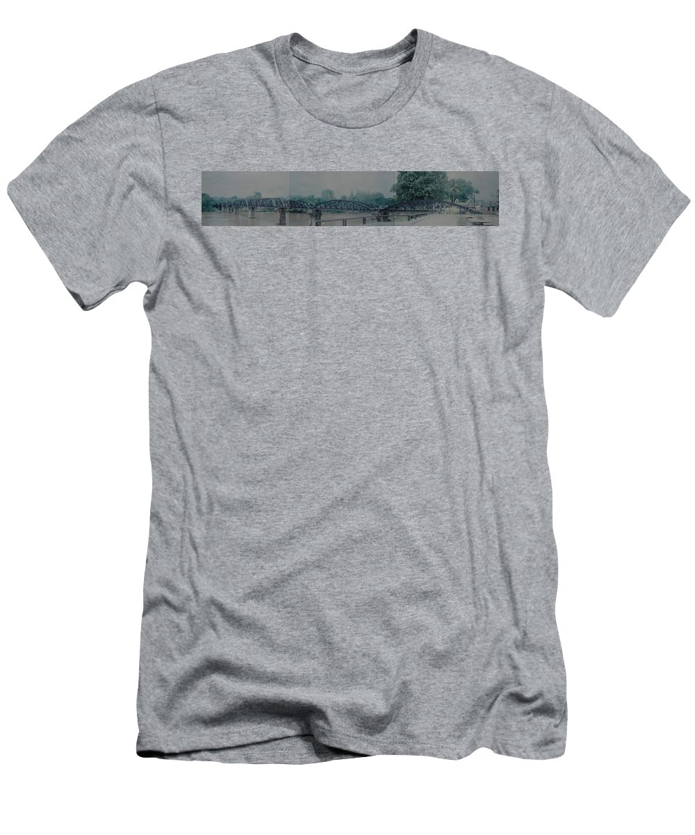 Bridge Men's T-Shirt (Athletic Fit) featuring the photograph The Bridge On The River Kwai by Rob Hans