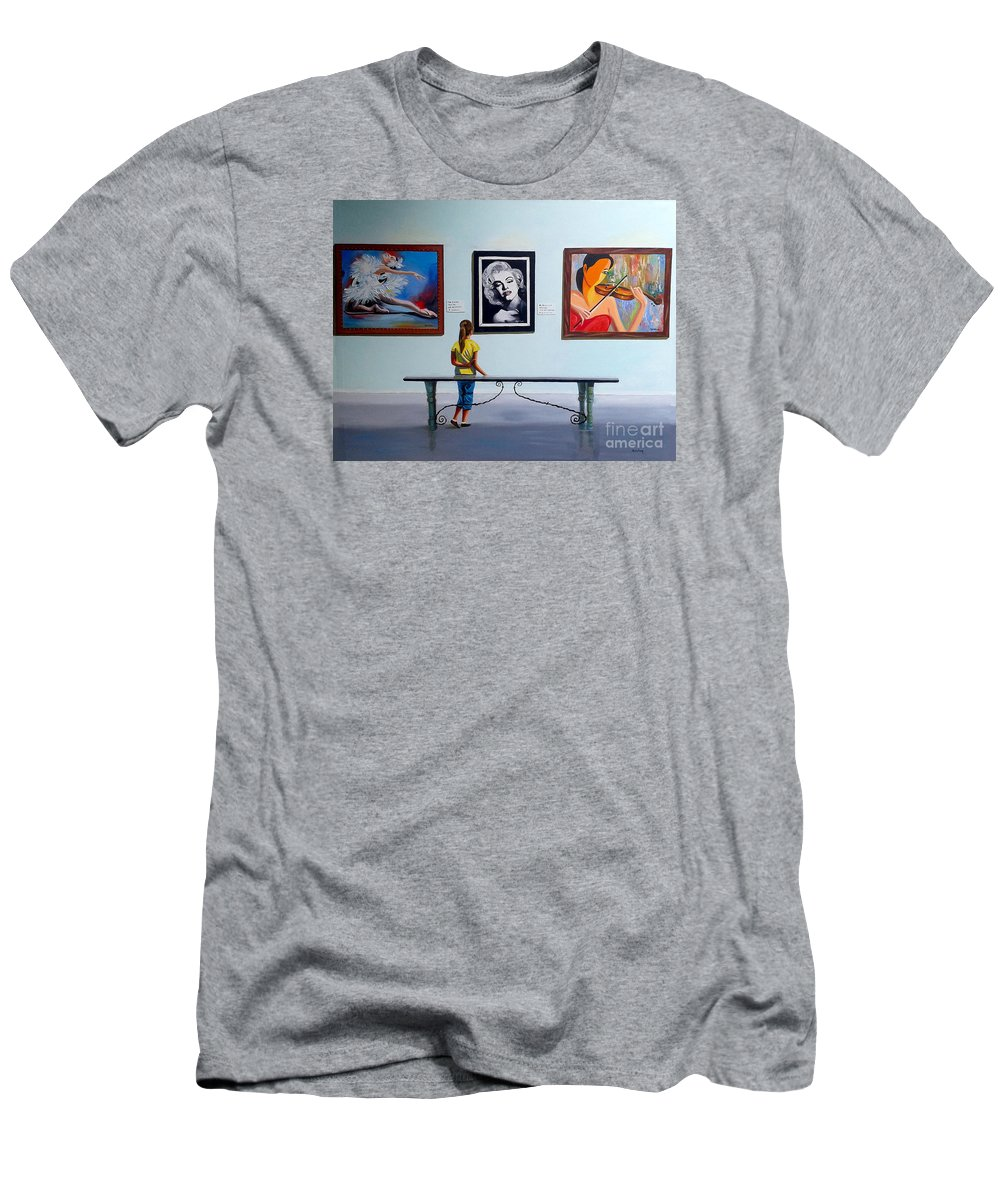 Dancing T-Shirt featuring the painting I want to be by Jose Manuel Abraham