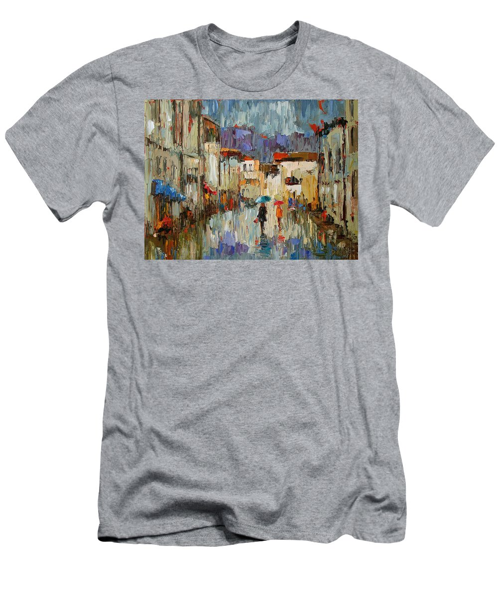 Impressionist Men's T-Shirt (Athletic Fit) featuring the painting Tourists by Debra Hurd