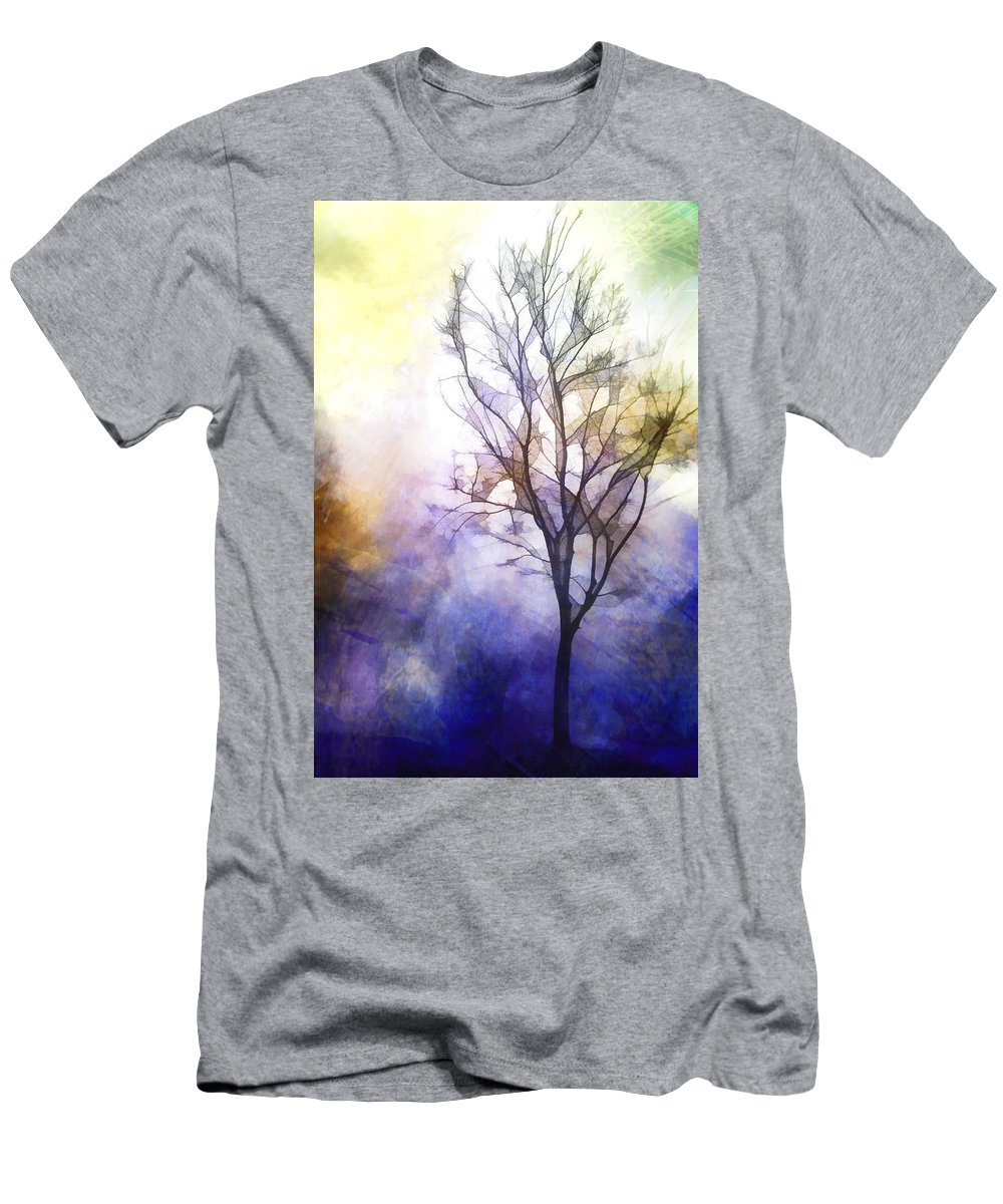 Tree Men's T-Shirt (Athletic Fit) featuring the mixed media Tree On Vine by Terry Davis