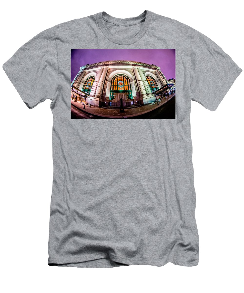 Men's T-Shirt (Athletic Fit) featuring the photograph Union Station by Justen Niehoff