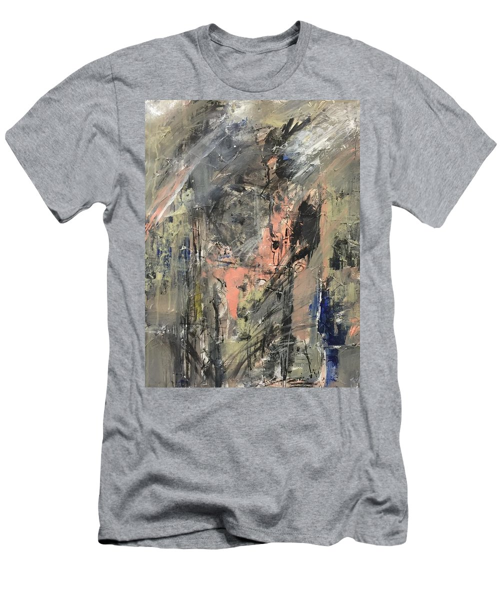 Acrylic Men's T-Shirt (Athletic Fit) featuring the painting Untitled by Elham Ghorbani