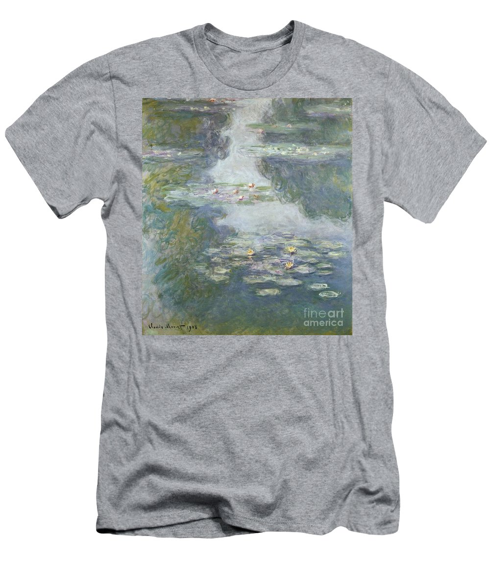Pads T-Shirt featuring the painting Waterlilies by Claude Monet