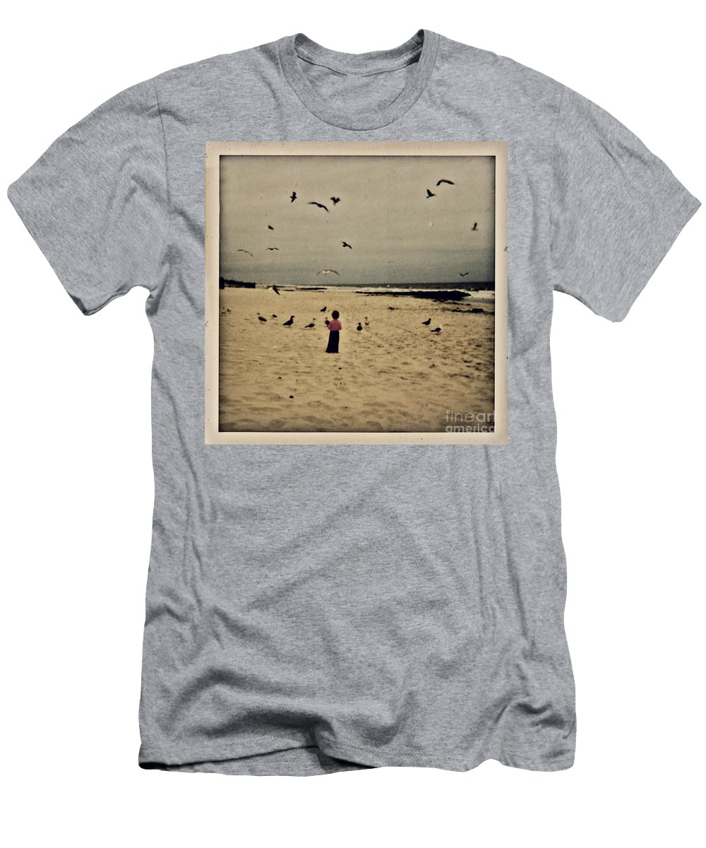 Ocean Men's T-Shirt (Athletic Fit) featuring the photograph When Promises Were For Keeps by Dana DiPasquale
