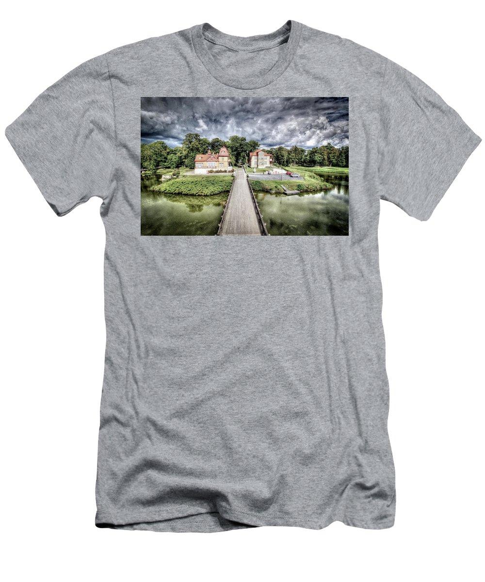 Kuressare Men's T-Shirt (Athletic Fit) featuring the photograph Kuressare, Estonia by Paul James Bannerman