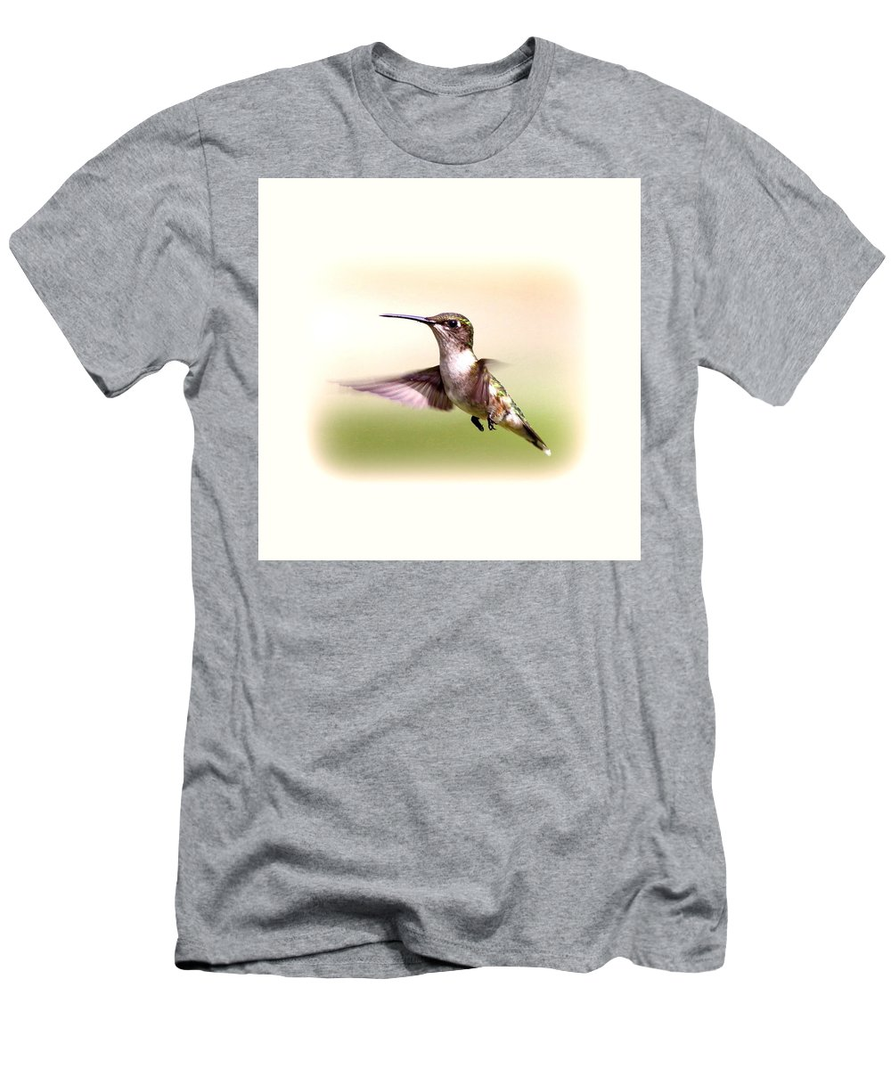 Hummingbird Men's T-Shirt (Athletic Fit) featuring the photograph 104757 - Hummingbird by Travis Truelove