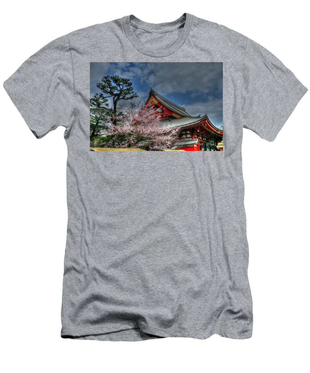 Tokyo Japan Men's T-Shirt (Athletic Fit) featuring the photograph Tokyo Japan by Paul James Bannerman
