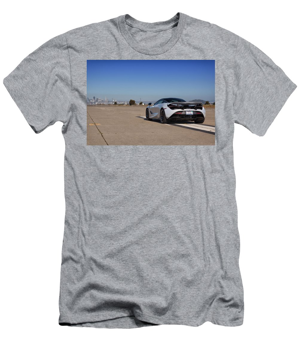 Mclaren Men's T-Shirt (Athletic Fit) featuring the photograph #mclaren #720s #print by ItzKirb Photography