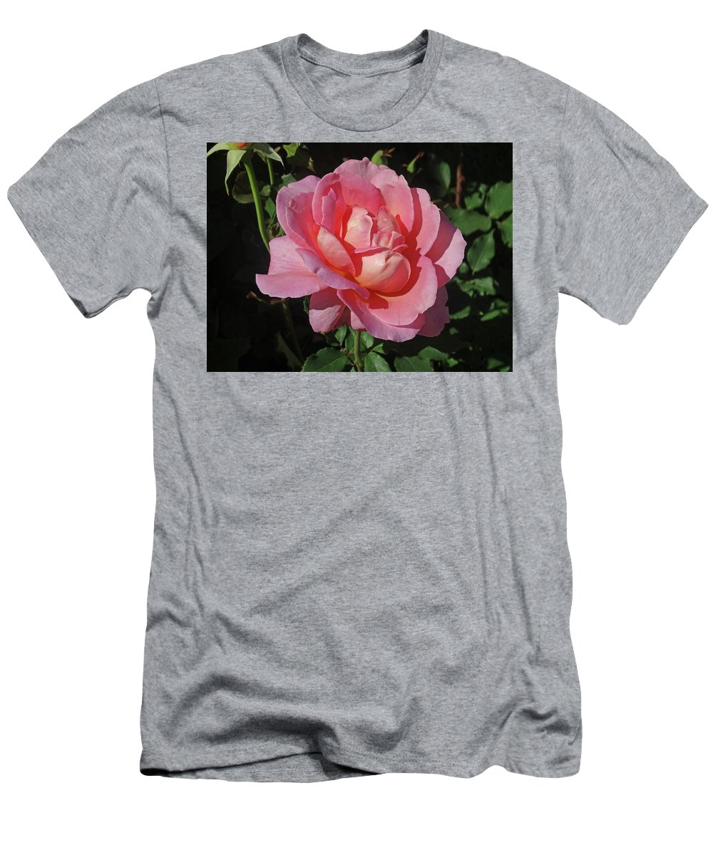 Rose Men's T-Shirt (Athletic Fit) featuring the photograph Pink Rose by Greg Boutz