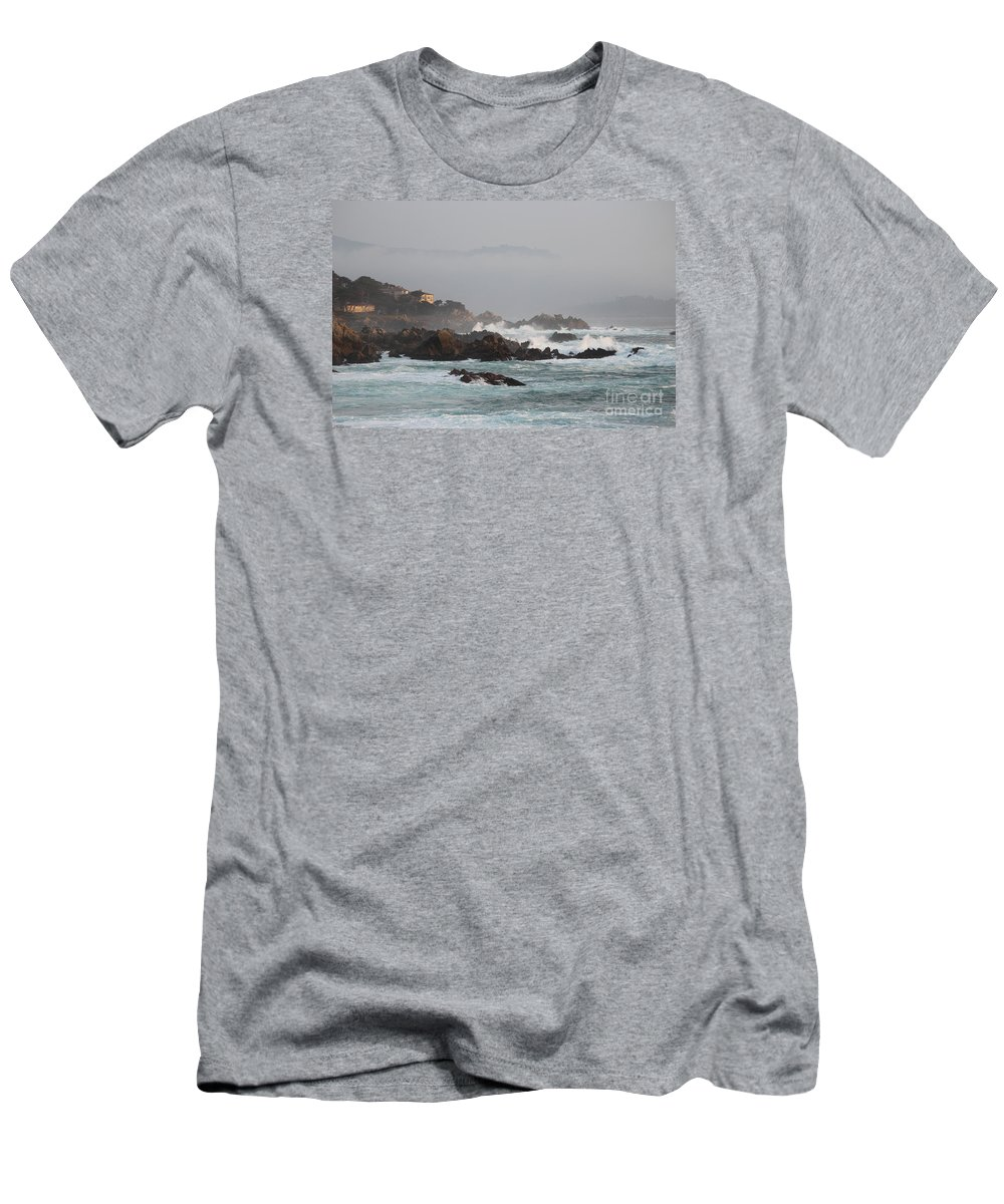 Monterey Men's T-Shirt (Athletic Fit) featuring the photograph 17 Mile Drive - Monterey by Marta Robin Gaughen