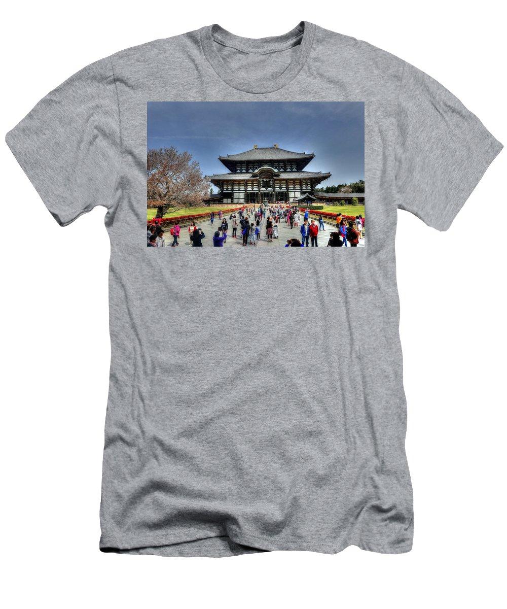 Nara Japan Men's T-Shirt (Athletic Fit) featuring the photograph Nara Japan by Paul James Bannerman