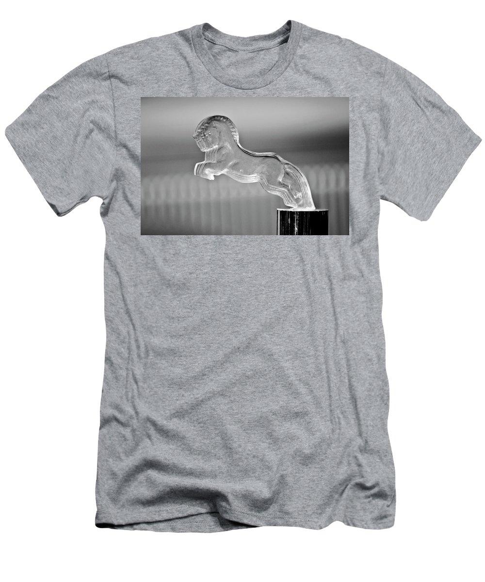 1925 Citroen Cloverleaf Men's T-Shirt (Athletic Fit) featuring the photograph 1925 Citroen Cloverleaf Hood Ornament 2 by Jill Reger