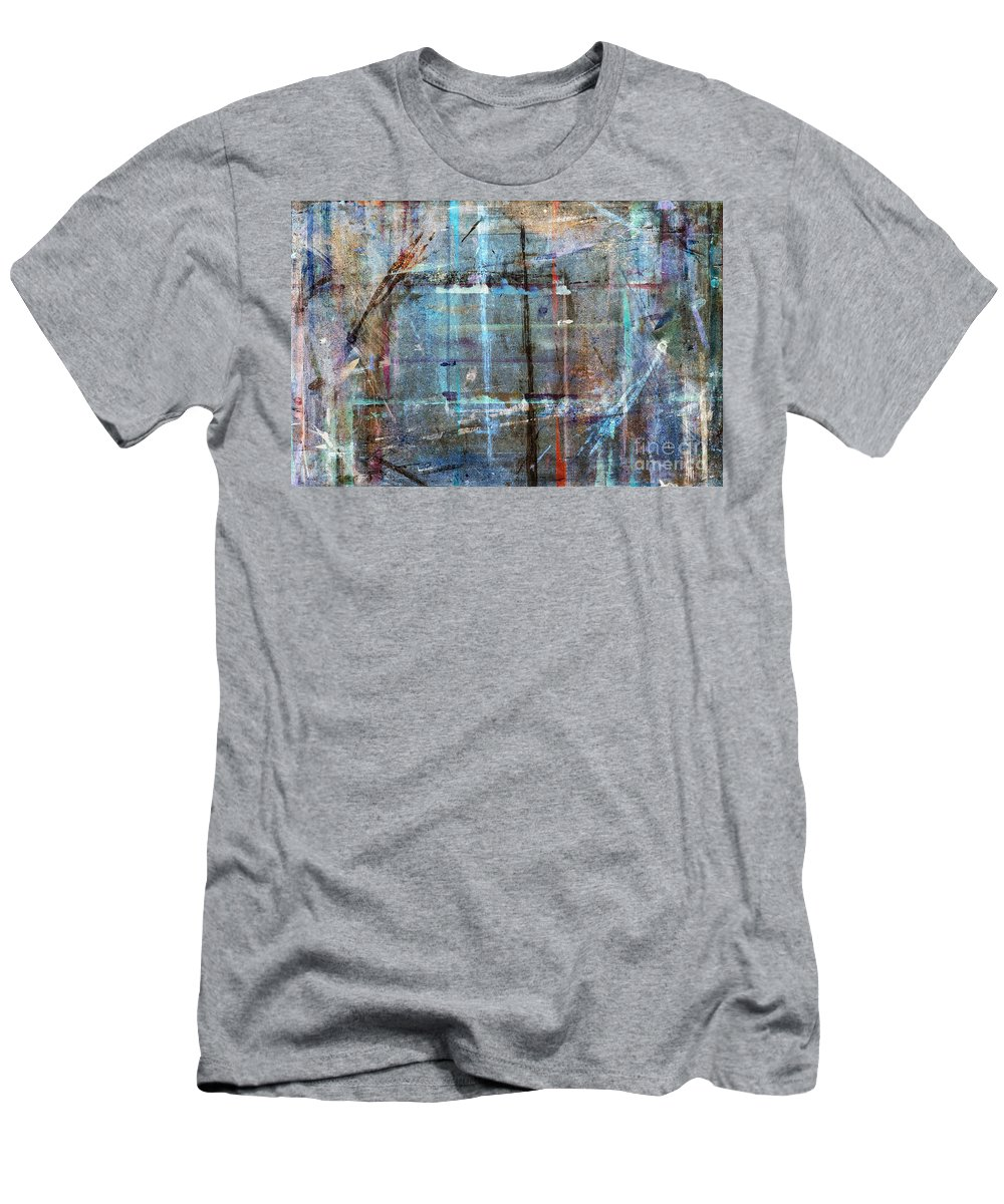 Work Men's T-Shirt (Athletic Fit) featuring the painting Abstract Composition by Michal Boubin