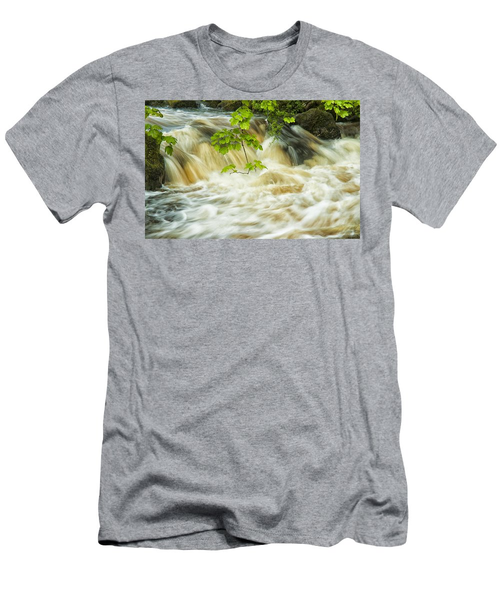Aira Force Men's T-Shirt (Athletic Fit) featuring the photograph Aira Force by Paul Cullen