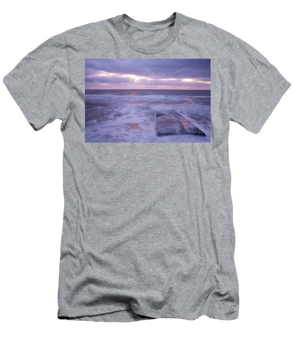 Travel Men's T-Shirt (Athletic Fit) featuring the photograph Ballyconnigar Strand At Dawn by Ian Middleton